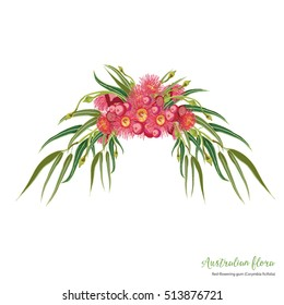 Red-flowering gum bouquet