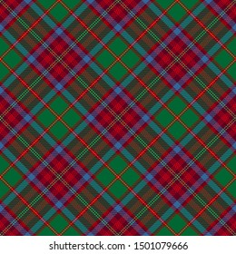 Red,Green and Blue Tartan Plaid Scottish Seamless Pattern. Texture from tartan, plaid, tablecloths, shirts, clothes, dresses, bedding, blankets and other textile.