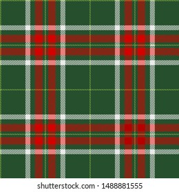 Red,green and white tartan plaid Scottish seamless pattern.Christmas and New year concept.Texture from tartan,plaid, tablecloths,clothes,shirts,dresses,paper, bedding, blankets.