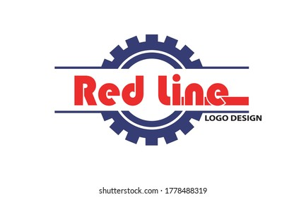 Redline logo design vector abstract