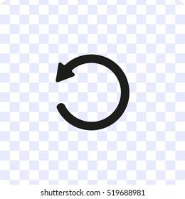 redo symbol, vector icon