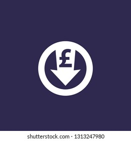 reduce costs icon with pound