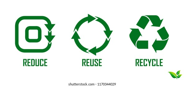 reduce reuse recycle concept. eps 10