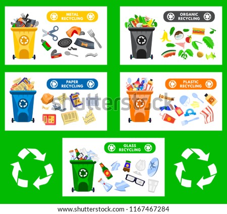 reduce reuse recycle waste garbage collection stock vector royalty