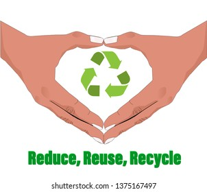 reduce, reuse, recycle in your hand
