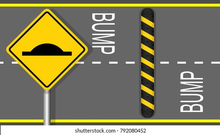 reduce speed bumpers safety device pedestrian public zone prevent crash car vehicle protection protector road street cross walk private way area school sign floor equipment