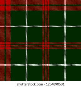 Red,white and green tartan plaid Scottish seamless pattern.Texture from tartan, plaid, tablecloths, clothes, shirts, dresses, paper, bedding, blankets and other textile products.Christmas concept.