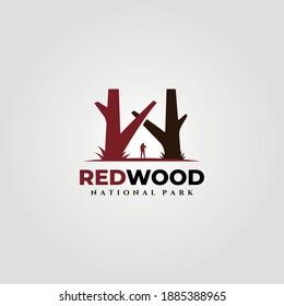 redwood national park vintage logo vector illustration design