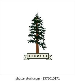 Redwood vector logo. Redwood icon