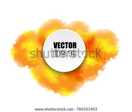 redyellow summer brush paint watercolor background stock vector