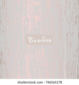 Reed Bamboo Patina Texture in pastel blue and copper. Trendy festive backdrop    for wallpaper, wrapping paper, textile, invitation cards, posters, home decor, blog, birthday. Vector