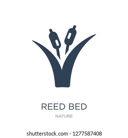 reed bed icon vector on white background, reed bed trendy filled icons from Nature collection, reed bed vector illustration