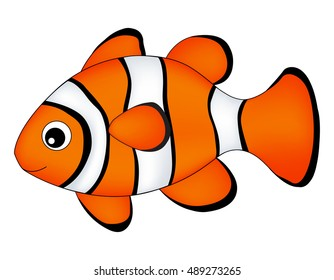 Reef fish / clown fish fish isolated on white background