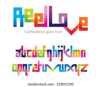 Reel Love Joining Font