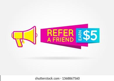 Refer Earn Money Images, Stock Photos & Vectors | Shutterstock