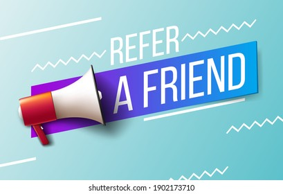 Refer a friend. vector illustration