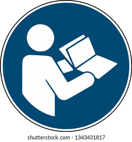 Refer to instruction manual booklet - mandatory sign iso 7010