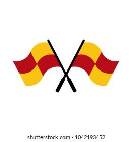 referee flag icon and symbol