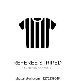 referee striped sportive t shirt icon vector on white background, referee striped sportive t shirt trendy filled icons from American football collection