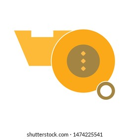 Referee whistle icon. flat illustration of Referee whistle vector icon. Referee whistle sign symbol