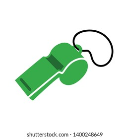 Referee whistle vector icon. filled flat sign for mobile concept and web design. Whistle simple glyph icon. Symbol, logo illustration. Pixel perfect vector graphics