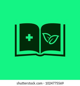 the reference book of medicines. medicinal plants. vector icon