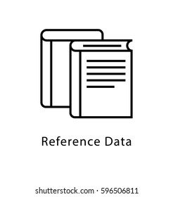 Reference Data Vector Line Icon