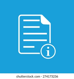 Reference icon. Info page blue vector icon isolated illustration