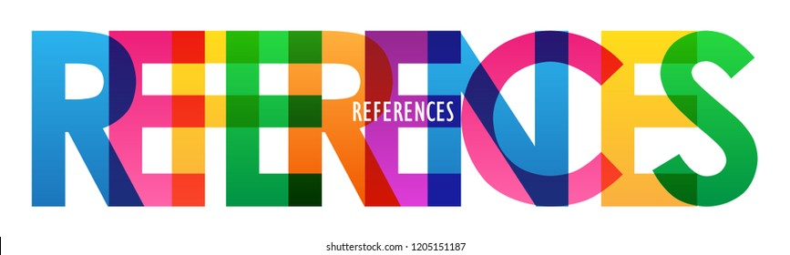 REFERENCES rainbow letters banner