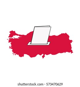 referendum voting of president in Turkey vector icon, yes, no