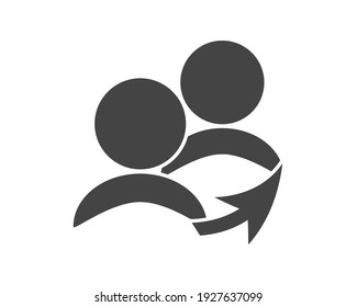 Referral link vector icon on white isolated background. Layers grouped for easy editing illustration. For your design.