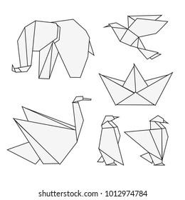 refined white origami