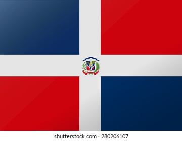 reflection flag dominican rep