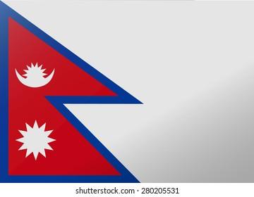 reflection flag nepal