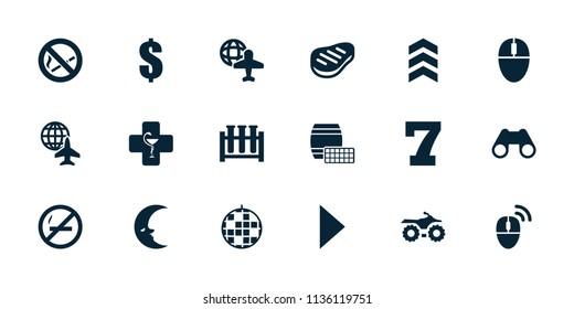 Reflection icon. collection of 18 reflection filled icons such as 7 number, dollar, disco ball, motorcycle, globe and plane. editable reflection icons for web and mobile.