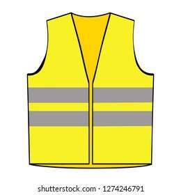 Reflective yellow vest