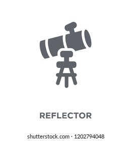 Reflector icon. Reflector design concept from Astronomy collection. Simple element vector illustration on white background.