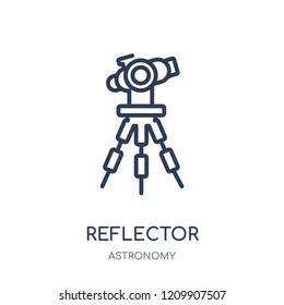 Reflector icon. Reflector linear symbol design from Astronomy collection.