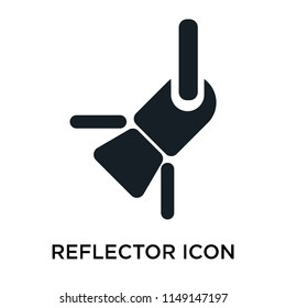 Reflector icon vector isolated on white background for your web and mobile app design, Reflector logo concept