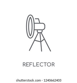 Reflector linear icon. Modern outline Reflector logo concept on white background from ASTRONOMY collection. Suitable for use on web apps, mobile apps and print media.