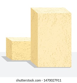 Refractory brick vector image on a white background
