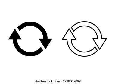 Refresh icon set. Reload icon vector. Update icon.