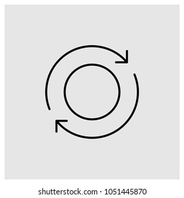 Refresh icon in trendy flat style isolated on grey background, modern symbol vector illustration for web