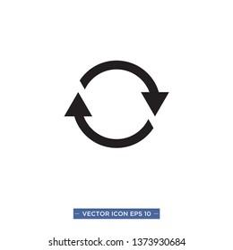 refresh icon vector illustration