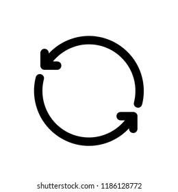 Refresh icon, vector illustration. Flat design style. Vector refresh icon illustration isolated on White background, refresh icon Eps10. refresh icons graphic design vector symbols.