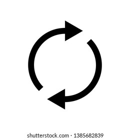 Refresh icon. Vector illustration. Flat design for business financial marketing banking advertising web concept cartoon illustration.