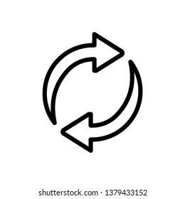 Refresh Icon Vector Illustration Logo Template