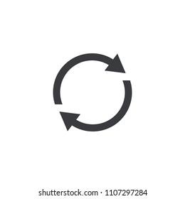 Refresh icon. Vector shape restart interface button. Element for design mobile app or website