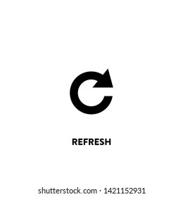 refresh icon vector. refresh sign on white background. refresh icon for web and app