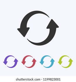 Refresh icon vector, Update sign, Reload symbol